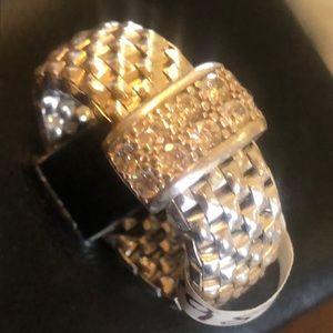 Stunning Sterling Silver Mesh Ring